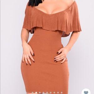Fashion Bova Off the Shoulder sweater dress